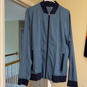 Lululemon track jacket light and navy blue m/lg